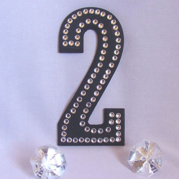 Wedding cake topper, Rhinestone Cake letters, Wedding table numbers, Wood wedding cake letters, Birthday cake letters, Pearl cake letters