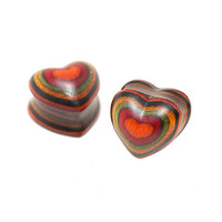 Heart Layered Bamboo Plug 2 Pack