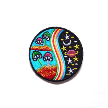 Magic Mushroom patch, Iron on patch