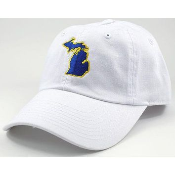 Michigan Ann Arbor Gameday Hat in White by State Traditions
