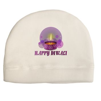 Happy Diwali Purple Candle Adult Fleece Beanie Cap Hat by TooLoud