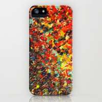 END OF THE RAINBOW - Bold Multicolor Abstract Colorful Nature Inspired Sunrise Sunset Ocean Theme iPhone Case by EbiEmporium | Society6