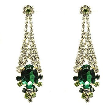 Green Post Pin Dangle Earring