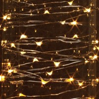 Perfect Holiday 7Ft 20 LEDS Starry String Fairy Lights Copper LED Battery Powered Ultra Thin String Wire, Warm White