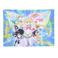 Sailor Moon Group Fabric Poster