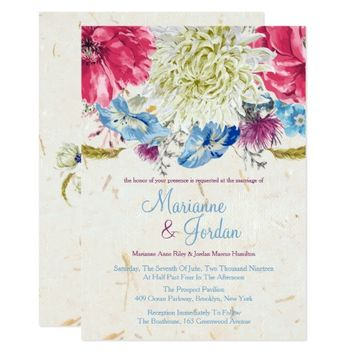 Wonderful Wildflowers, Wedding Invitations