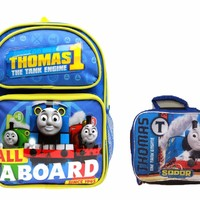 """Thomas the Train Boys' No. 1 Thomas 12"""" Backpack With Lunch Bag Set"""