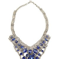 Shoptiques — Blue Glitz Necklace