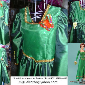 Fiona Shrek Disney Princes formal party christening bridal medieval graduation pageant halloween costume xv