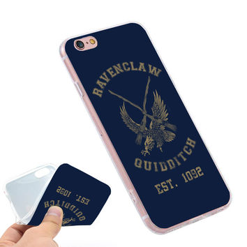 Harry potter Ravenclaw quidditch team  Clear Soft TPU Slim Silicone Phone Case Cover for iPhone 4 4S 5C 5 SE 5S 7 6 6S Plus