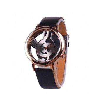 Womens Casual Leather Strap Watches Fashion Music Note Watch Best Christmas Gift