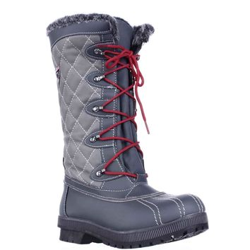 Sporto Camille Waterproof Winter Snow Boots, Grey, 6 US
