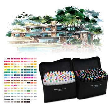 80 Colors Painting Art Mark Pen Alcohol Marker Pen Cartoon Graffiti Sketch Double Headed Art Copic Markers Designers