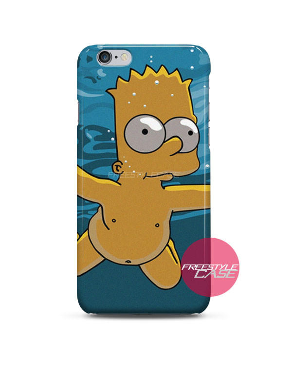 new arrival 20502 7c509 Bart Simpson Nirvana iPhone Case 3, 4, 5, 6 Cover