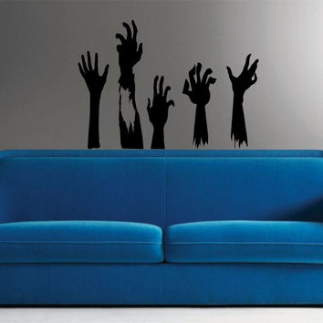 Zombie Hands Set Wall Decal Sticker Wall Vinyl Mural The Walking Dead