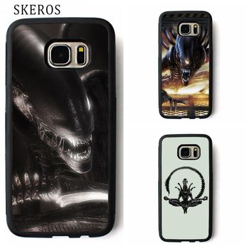 SKEROS Alien Raiders cover phone case for samsung galaxy S3 S4 S5 S6 S7 S8 S6 edge S7 edge Note 3 Note 4 Note 5 #rr28