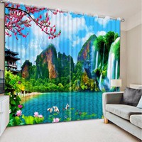 Blackout Curtains For Living Room Bedroom Wedding room 3D Window Curtains Photo 3D Curtains CL-DLM724