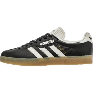 ADIDAS GAZELLE SUPER MEN'S SHOE - CORE BLACK/ VINTAGE WHITE/GUM