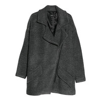Buy Mango Tweed Oversized Coat, Dark Grey | John Lewis
