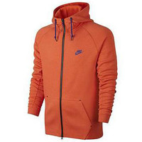 Nike Men's Tech Fleece AW77 Hoodie Team Orange
