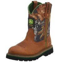 John Deere 3188 Western Boot (Little Kid/Big Kid),Tan/Camouflage,6 M US Toddler
