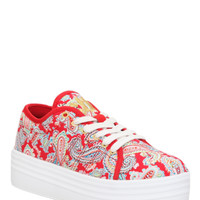 Cute To The Core Blyke Paisley Platform Sneakers