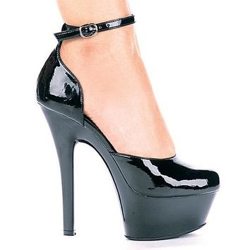 Ellie Shoes Bess Ankle Strap Platform Pump