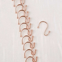 Copper Shower Curtain Hooks Set | Urban Outfitters