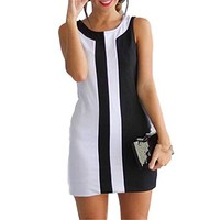 Women Dress,Haoricu Fall Autumn Elegant Sexy Womens Summer Casual Sleeveless Cocktail Mini Evening Party Dress