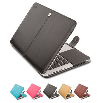 Mosiso for Macbook Pro 13 15 inch with Retina Display PU Leather Sleeve Case Cover Mac protective accessories A1502 A1425 A1398