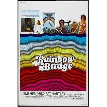 Rainbow Bridge poster Metal Sign Wall Art 8in x 12in