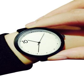 Minimalist Literary Men Watch Ladies Couple Watch