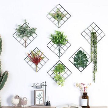 ac NOVQ2A Wall grid plant decoration