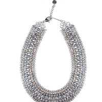 Chain necklace with diamante embellished trims