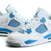Men's Nike Air Jordan 4 Flight Retro Military Blue