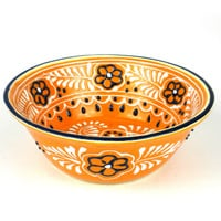 Mexican Ceramic Pottery Small Bowl - Mango