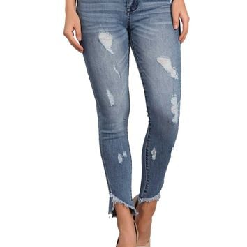 Celebrity Pink Jeans Twiggy Mid Rise Skinny Ankle  Jeans