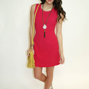 Woven Detail Dress - Pink Sunset