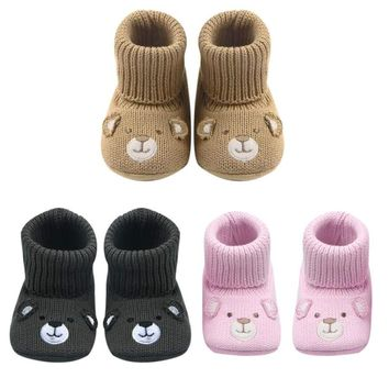 Baby Winter Moccasins Shoes Non-slip Soft Sole Walking