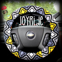 Steering Wheel Cover Yellow and Gray