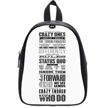 Here's To The Crazy Ones School Backpack Large