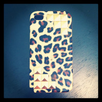 Gold Studded Cheetah Hard Case IPhone 4 4S