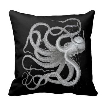 Nautical steampunk octopus antique vintage kraken