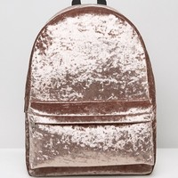 ASOS Velvet Backpack at asos.com