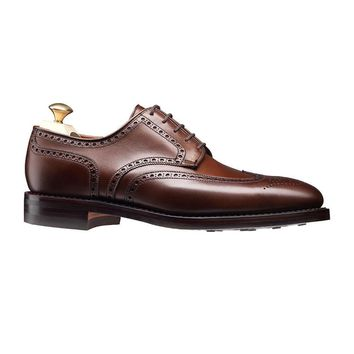Wakeby Wolf Formal Brown Wingtip Genuine Leather Shoes