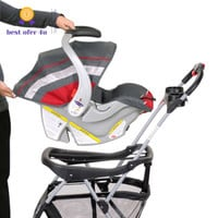 Baby Trend Snap-N-Go EX Universal Infant Car Seat Carrier Stroller 2 cup holder