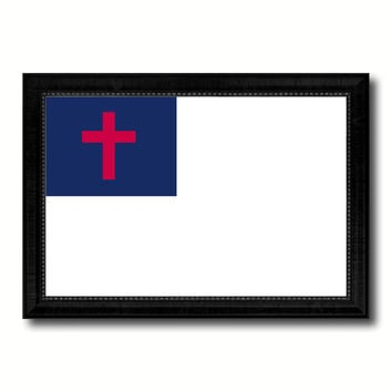 Kayso Christian Religious Military Flag Canvas Print Black Picture Frame Gifts Home Decor Wall Art