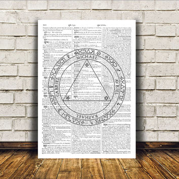Alchemy print Occult poster Modern decor Witch art RTA207