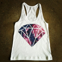 Rave Clothes - Galaxy Diamond Top - Womens Tanks and Tees - Bad Kids Clothing | Bad Kids Clothing