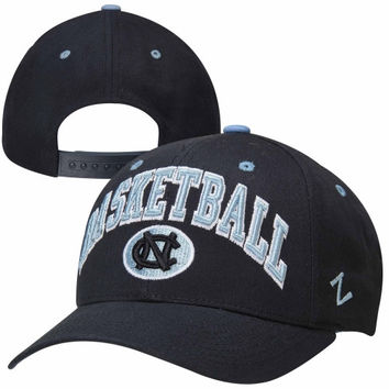 Zephyr North Carolina Tar Heels :UNC: Basketball Team Color Adjustable Hat - Navy Blue